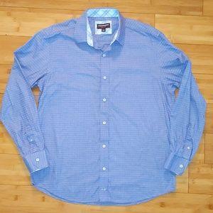Johnston & Murphy purple dress shirt button up L